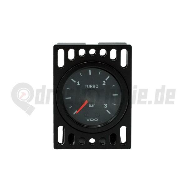 Instrumentenhalter Zusatzanzeigen Ladedruckanzeige Halter VDO CNC druckschmiede schwarz silber vision 52mm LDA mechanisch