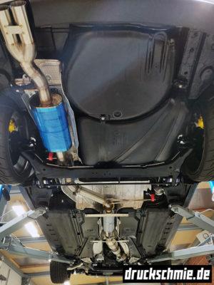 Abgasanlage aga auspuff sonderbau einzelanfertigung unterboden restauration audi b5 a4 limo s4 rs4 limousine aufbereitung pulverbeschichtung